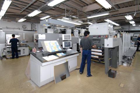 印刷工場内